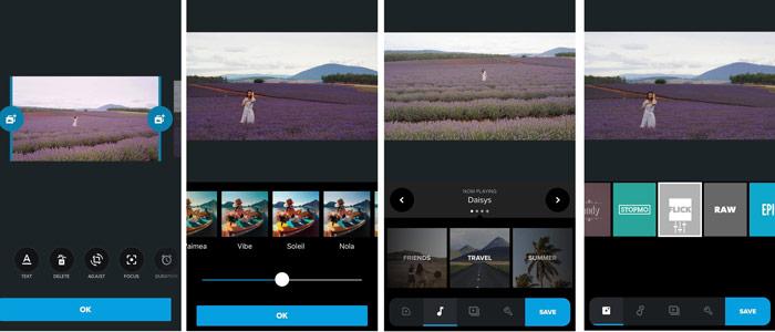 แอป Quik + แอพตัดต่อวีดีโอ + App วีดิโอ + Video Editor