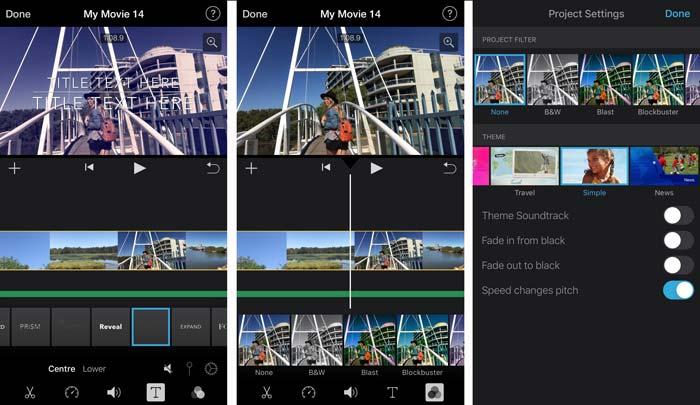 แอป iMovie + แอพตัดต่อวีดีโอ + App วีดิโอ + Video Editor