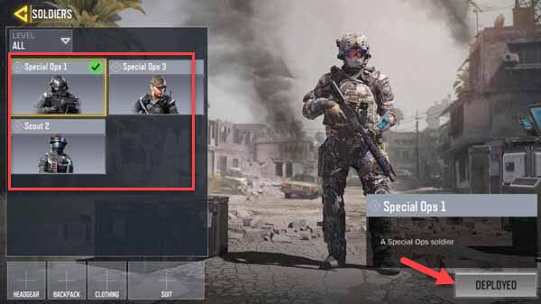 ตัวละคร Call of Duty Mobile