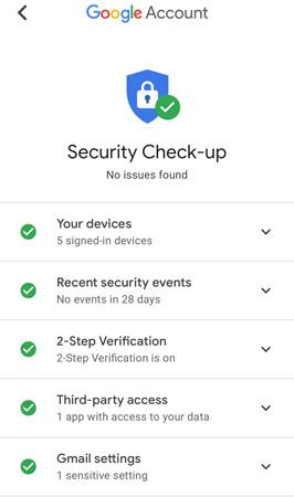 ความปลอดภัย Gmail